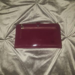 Adrienne Vittadini - Maroon Wallet/Wristlet